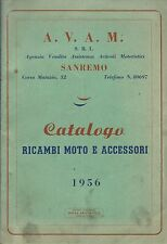 Catalogo 1956 Ricambi Moto AVAM Sanremo -Guzzi  Vespa Lambretta Gilera MV Agusta