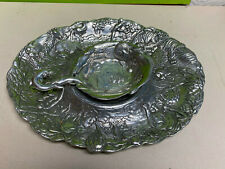 excellent Arthur Court chip dip tray metal metalware1996  animals
