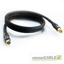 HDTV cavo per antenna 5 m 5 x SCHERMATO 135dB+ NERO EDIZIONE + hi-ancm02