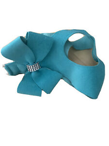 Susan Lanci Tiffi Blue Step in Harness w Swarovski Crystals And Matching Leash