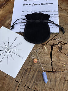 Sodalite pendulum