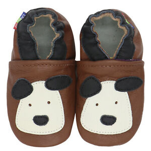 carozoo little puppy brown 12-18m new soft sole leather baby shoes