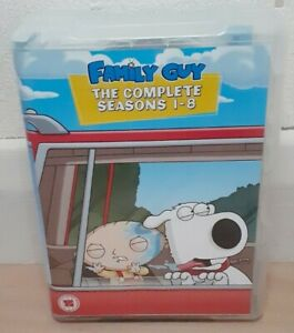 Family Guy the complete seasons 1-8 DVD box set. Rating 15. Pal region.