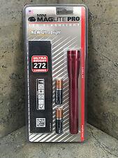 New Mini Maglite PRO LED Flashlight 2 AA  SP2P03H - 272 Lumens - Red