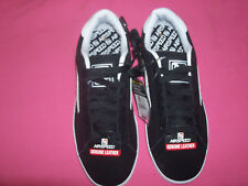 New Men'S Airspeed Black Leather Suede Fabric Skate Sneakers Tennis Shoes Size 8