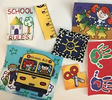 8 School Days Patches - Iron On Fabric Appliques