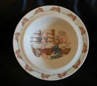 Royal Doulton BUNNYKINS Bowl Made In England No CRACKS CHIPS Mr Piggly's Store