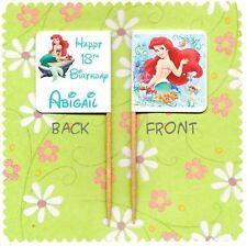 20 personalizzata Disney Princess Ariel Sirenetta Cup Cake Bandiera topper Pick