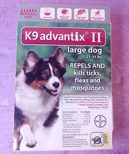 K9 Advantix II Flea Tick Treatment Large Dog 6 Pack 21-55 lbs Open Box Unused