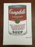 Andy Warhol Litografia 57 x 38 Arches Timbro Secco Israel Castelli AN257