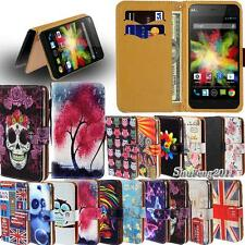 Leather Flip Card Wallet Stand Cover Case For Various Wiko Model SmartPhones