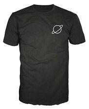 Planet Saturn Chest Swag Hipster Fashion Space Faith Geek Nerd Big Bang T-shirt