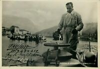 Autografo di Pietro Vassena (Malgrate, 1897 - 1967) su cartolina con batiscafo