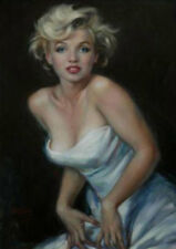 ZOPT683 sexy fashion portrait Marilyn Monroe art hand OIL PAINTING on CANVAS