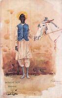 POSTCARD   PEOPLES  OF  EGYPT   DONKEY  BOY       LANCE    THACKERAY