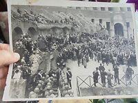 """""""Pour la Paix et l'Amitié Franco-Italienne"""" Rome 1935 Photo Historique Italie"""
