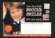 New England Revolution--2000 Season Ticket Order Postcard