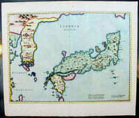 1655 Joan Blaeu Old Antique Map of Japan, Korea & parts of China - Superb Colour