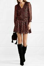 NEW Alice + Olivia Tessie Drop Waist Heart Burnout Dress in Black- Size 6 #D2416