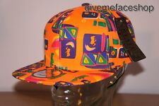 ORANGE BASEBALL SUPREME AZTEC SNAPBACK CAPS, FRESH PRINCE FLAT PEAKS FITTED HAT