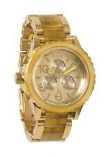 ***NEW IN BOX*** Nixon 42-20 4220 Chrono Champagne Gold Amber Watch A037-1423