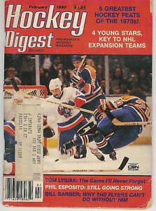 HOCKEY DIGEST - FEBRUARY 1980 NEW YORK ISLANDERS COVER