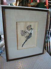 Vintage Semi Antique Watercolor Painting of a Rose