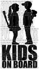 Boy meets Girl Banksy kids on board sign sticker tinted privacy glass cool funny