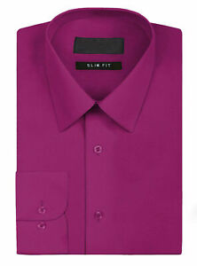 New Open Box Repackaged Men's Long Sleeve Solid Dress Shirts Multiple Colors