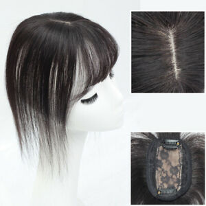 100% Remy Human Hair Clip in on Hair Crown Toppers Top Hairpieces for Women