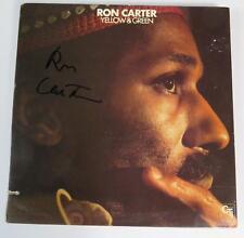 """Ron Carter MILES DAVIS QUINTET Signed Autograph """"Yellow & Green"""" Album Vinyl LP"""