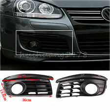 2x Fog Light Grills Grilles Vent for VW Jetta MK5 Cover Front Bumper 06-09 Open