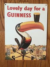 Guinness Stout Nitro Beer Brewery Pub Dublin Ireland Toucan Vintage Metal Sign