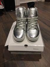Men's Supra Metallic Skytop Pewter Leather Shoes Size 13 MUSKA 001