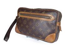 LOUIS VUITTON Marly Dragonne Monogram Canvas Leather Pochette Clutch Bag LP2902