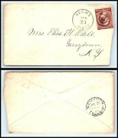 1884 US Cover - Adams, Massachusetts to Tarrytown, New York L13