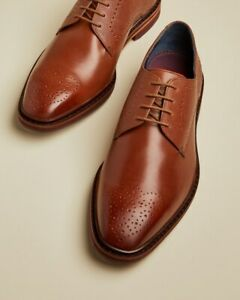 Ted Baker Men's JRRETH Classic Leather Brogue Dark Tan UK 8 EU 42 RRP £149