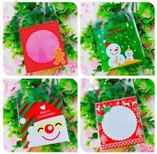 30x Christmas Gift Bag Cookie Bag Bakery Bag 10x10cm List