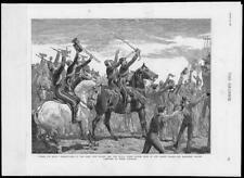 1882 - Antique Print LONDON Albert Docks Bandsmen Farewell Comrades Egypt  (10)