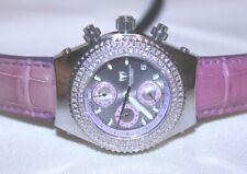 TECHNOMARINE Chrono Pink Diamond Bezel Watch w/ Pouch