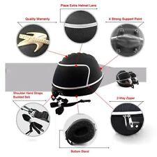 New Black Motorcycle Bike Karting Crash Helmet Bag Carrier Shell Rucksack Free