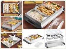 3 in 1 BUFFET SERVER/HOT TRAY FOOD SERVER FOOD WARMER PAN DINNER PARTY HOME NEW