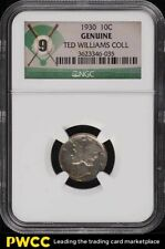 1930 10C Genuine Dime TED WILLIAMS COLLECTION NGC 9