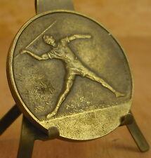 Médaille Gymnastique les sports signée Fraisse Medal 勋章 Javelot javelin Sport