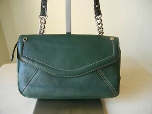 Tignanello Crossbody Organizer Wallet Lined Leather Bag Hipster Purse EUC