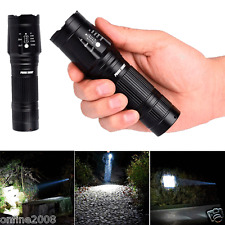 Zoomable 3000LM CREE XML T6 LED Flashlight 5-Mode Torch Handheld Light Lamp BK