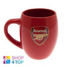ARSENAL TEA  RED TUB MUG CUP COFFEE CERAMIC OFFICIAL FOOTBALL SOCCER CLUB TEAM
