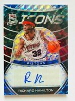 2019-20 Spectra Richard Hamilton AUTO Card, Icons Prizm, SP #/49, Pistons!