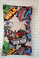 MARVEL COMICS Ironman Hulk Small Pillow Case with Travel / Toddler Pillow