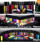 36 48 Colors Nail Art Tips Varnish Polish Liner Brush Painting Pen Drawing Set